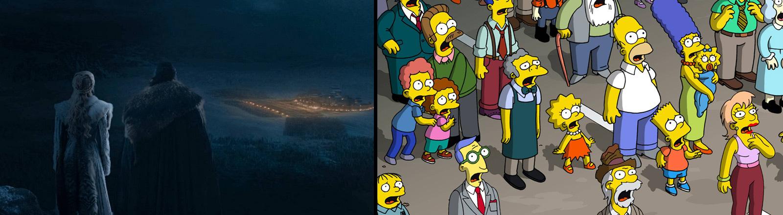 """Szene aus den Serien """"Game of Thrones"""" und """"Die Simpsons"""""""
