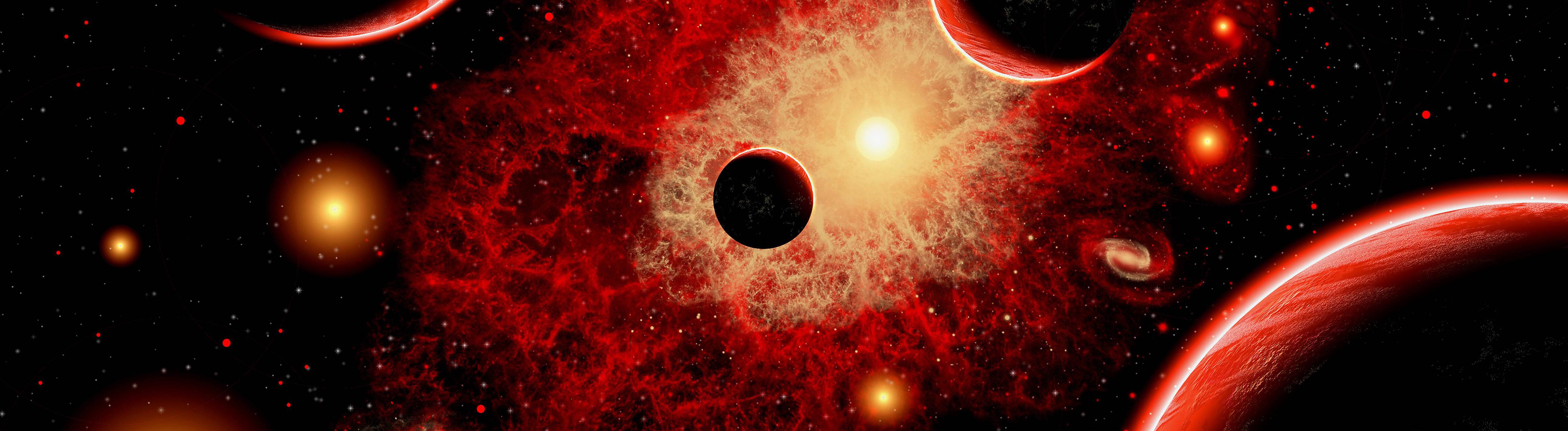Ein Roter Riese im Weltraum.