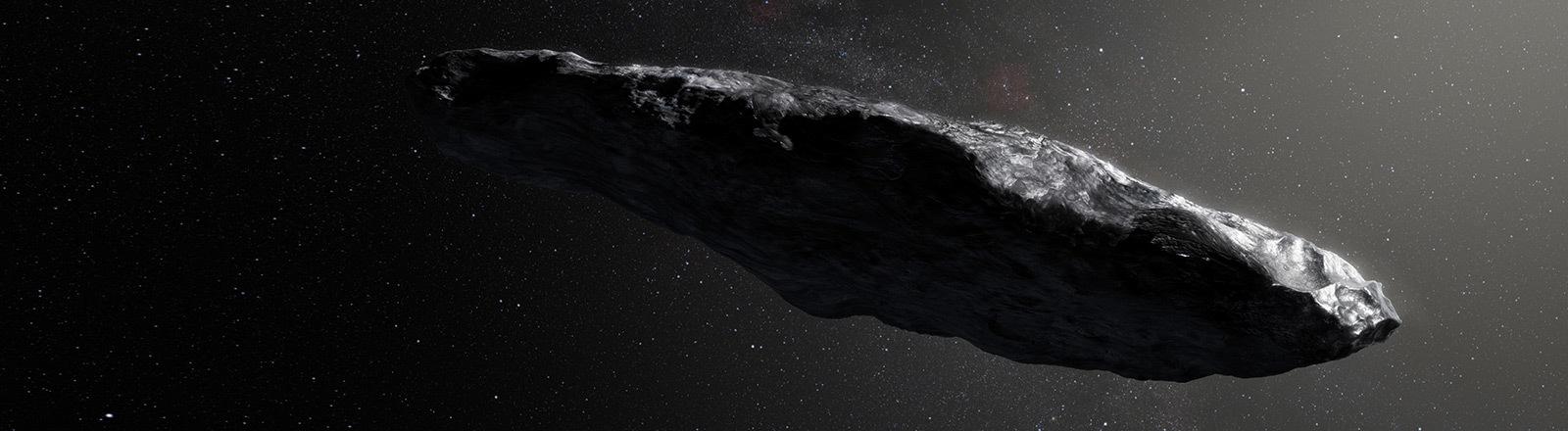 Künstlerische Darstellung eines Asteroiden