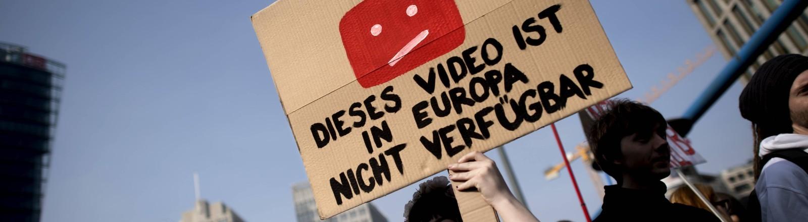 Demo am 23.03.2019 in Berlin zur Urheberrechtsreform.