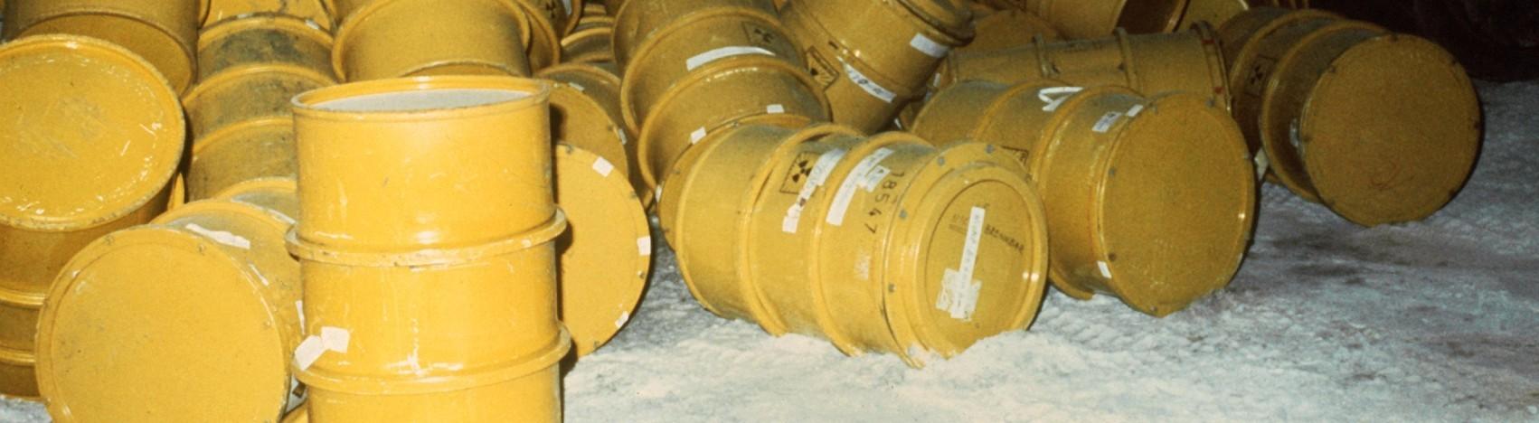 Auf der 750-Meter-Sohle von Asse II im ehemaligen Salzbergwerk bei Remlingen lagern Fässer mit schwachradioaktiven Abfällen