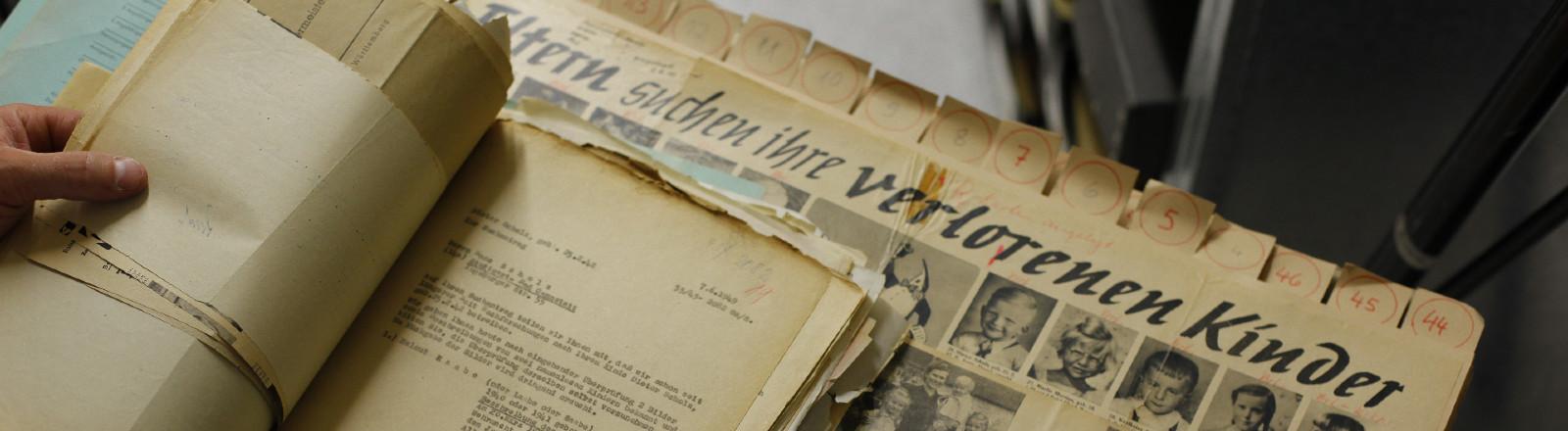 DRK - Suchdienst München: Steckbrief des nach dem Luftangriff auf Dresden am 13. Februar 1945 vermissten Kindes Dieter Scholz und Informationen über den möglichen Verbleib - 2010