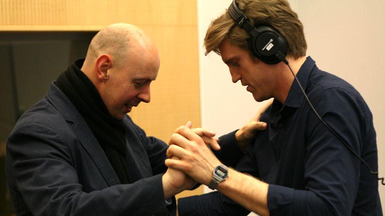 Moderator Thilo Jahn und Tanzlehrer Sascha Kabeck.
