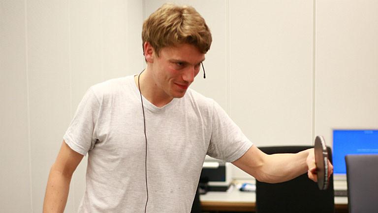Lennart beim Tischtennis