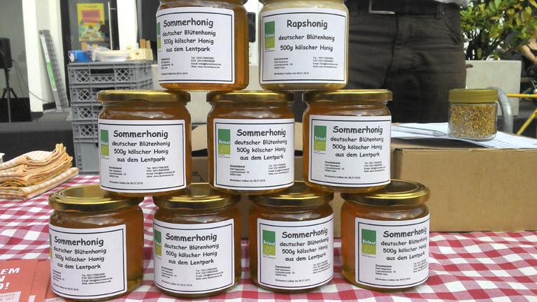 Regional und lecker: Honig aus einem Park mitten in der Stadt.