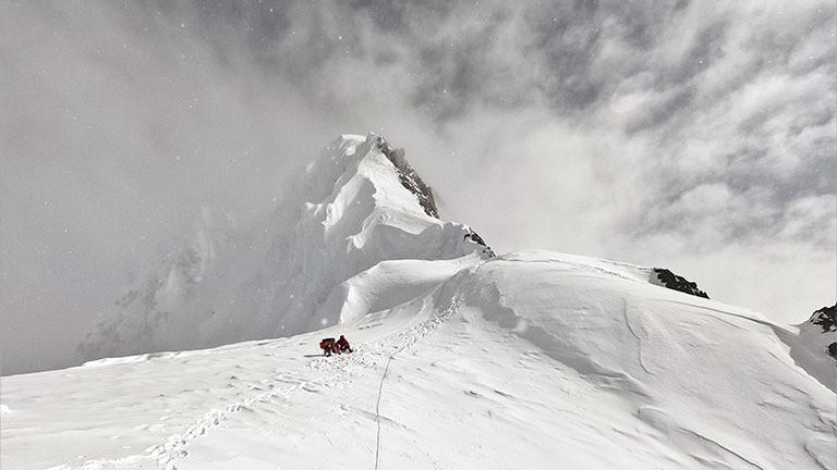 Abstieg vom Gipfel des Broad Peak