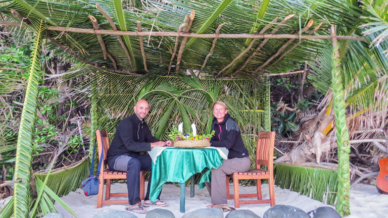 Carolin Steig und Martin Merten auf Fidji