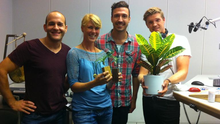 Jan Zieling und Philip Ehlers von Evrgreen erklären in Endlich Samstag, wie man Zimmerpflanzen richtig pflegt.