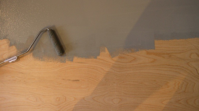 DIY-Leinwand für Beamerprojektion