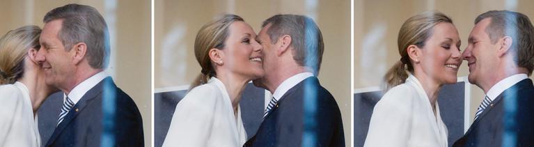 Bettina und Christian Wulff am 12.12.2013 im Landgericht in Hannover. Erst getrennt - jetzt wieder vereint.