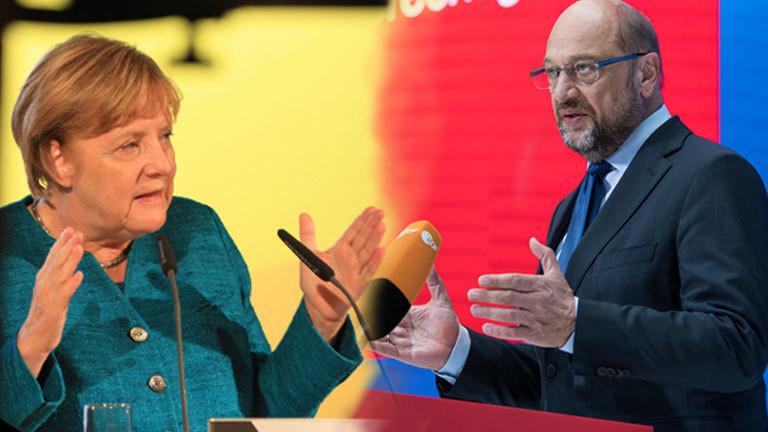 Angela Merkel Martin Schulz Kanzlerkandidaten Duell