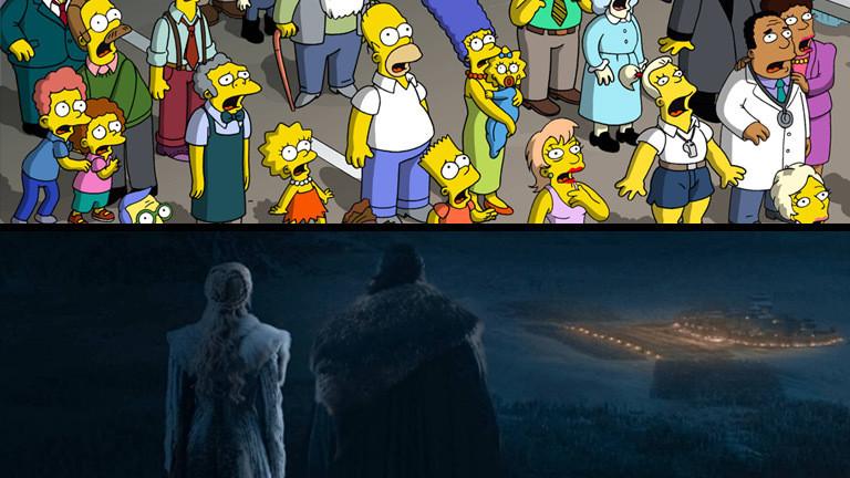 """Szene aus den Serien """"Die Simpsons"""" und """"Game of Thrones"""""""