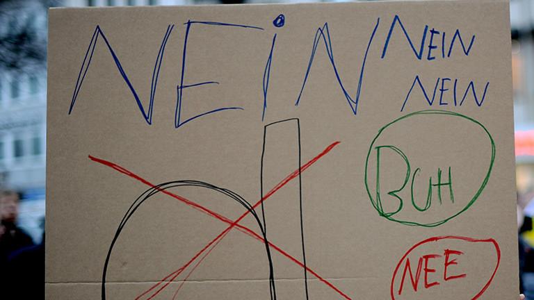 """Schild mit dem Wort """"nein"""""""