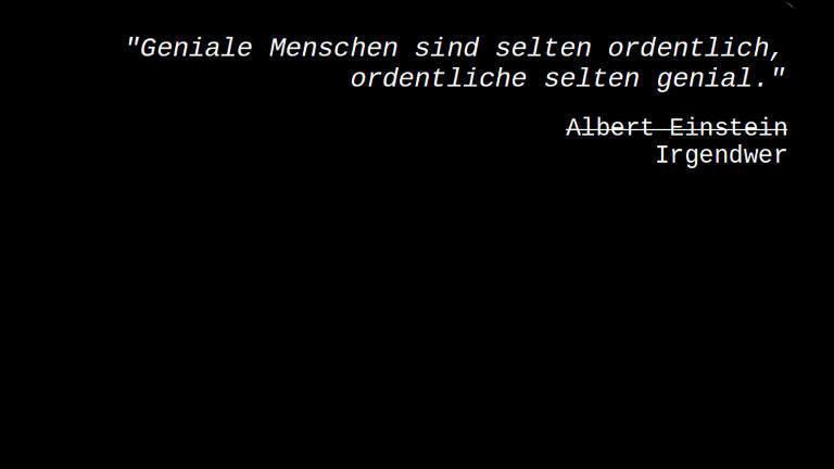 Zitat, angeblich von Albert Einstein