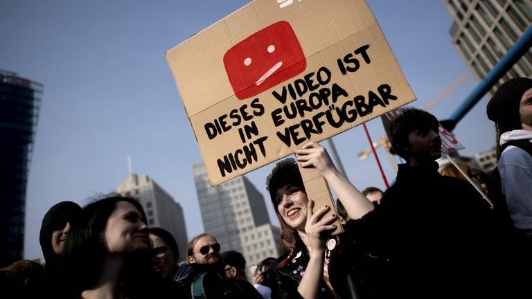 Demo in Berlin am 23.03.2019 zur Urheberrechtsreform.