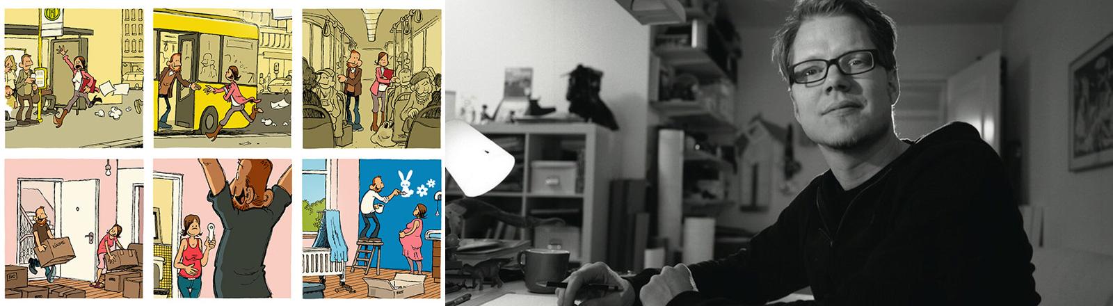 Flix in seinem Atelier