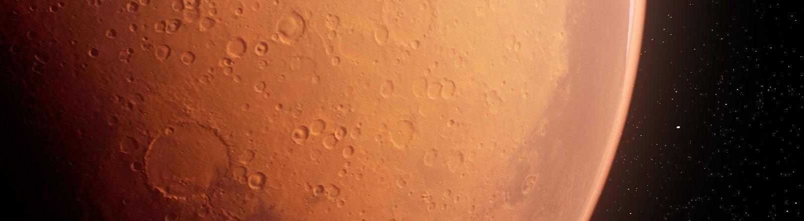 Der Planet Mars.