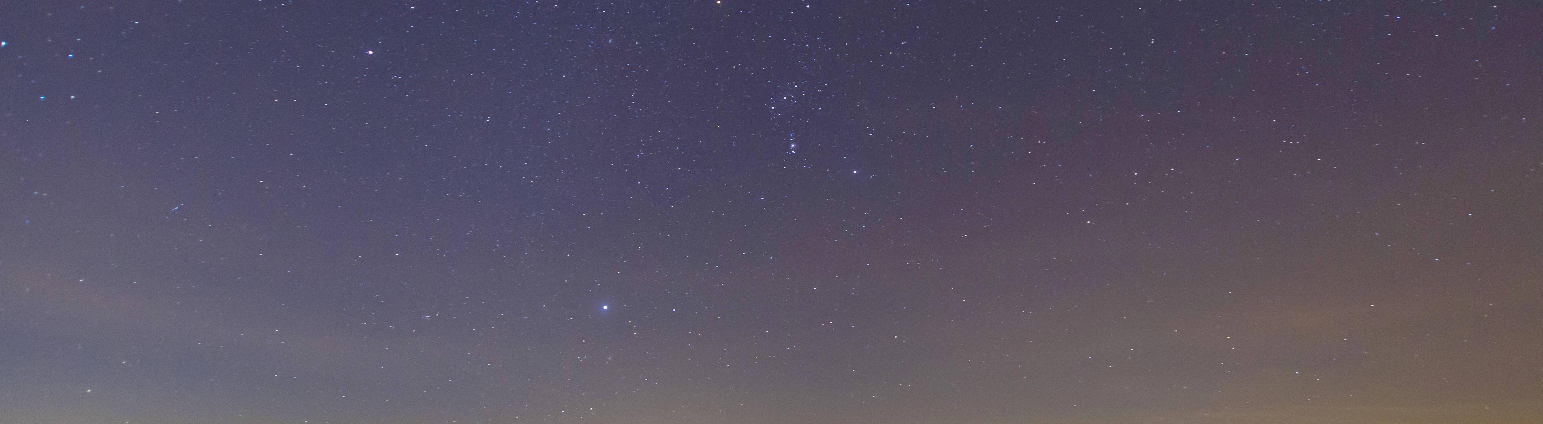 Sternenhimmel über  der Nordsee