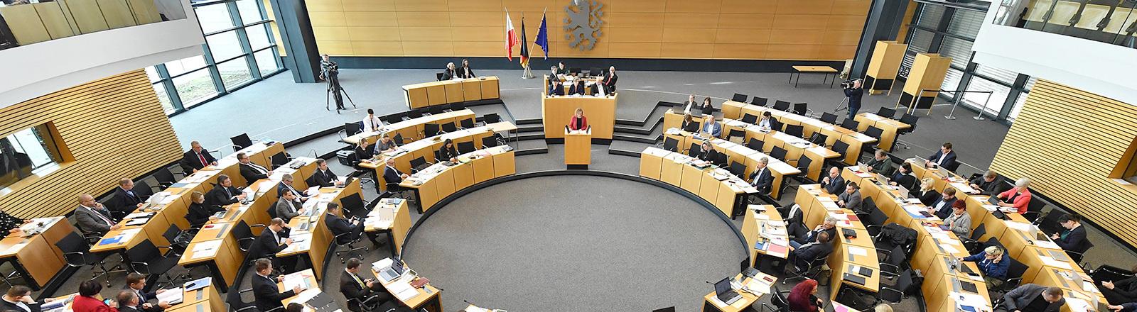Blick in den thüringischen Landtag
