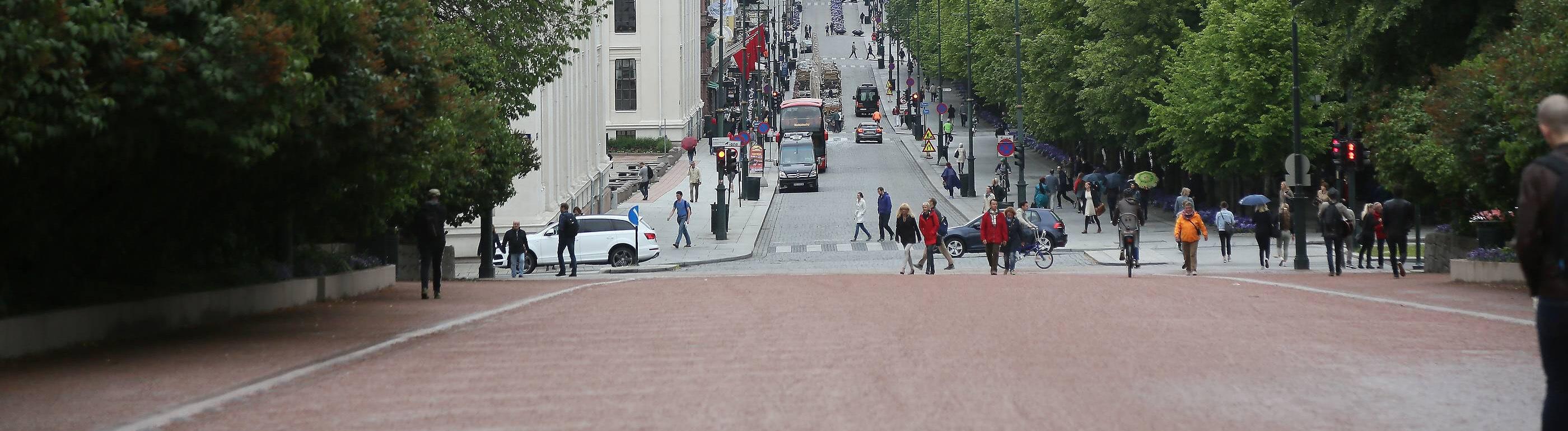 Blick vom Königsschloss in Oslo in die Innenstadt - Oslo, Norwegen