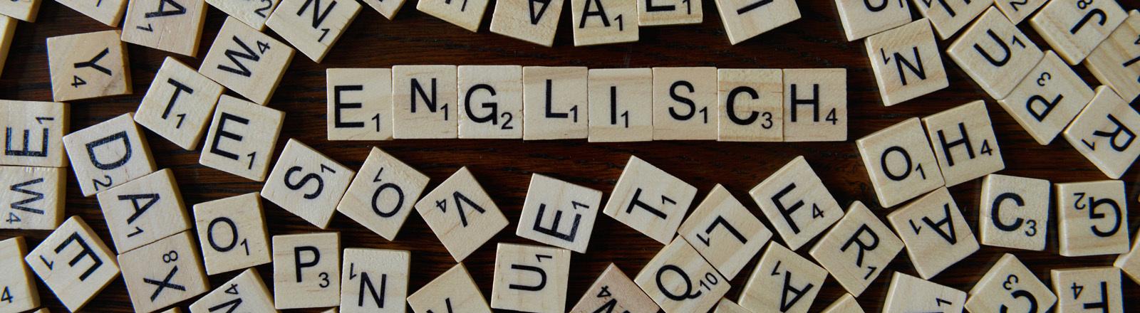 Scrabble Zeichen mit Wort Englisch