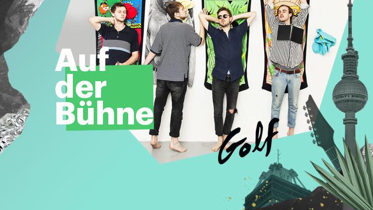 Auf der Bühne mit Golf