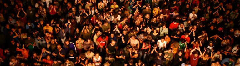Publikum auf einem Konzert
