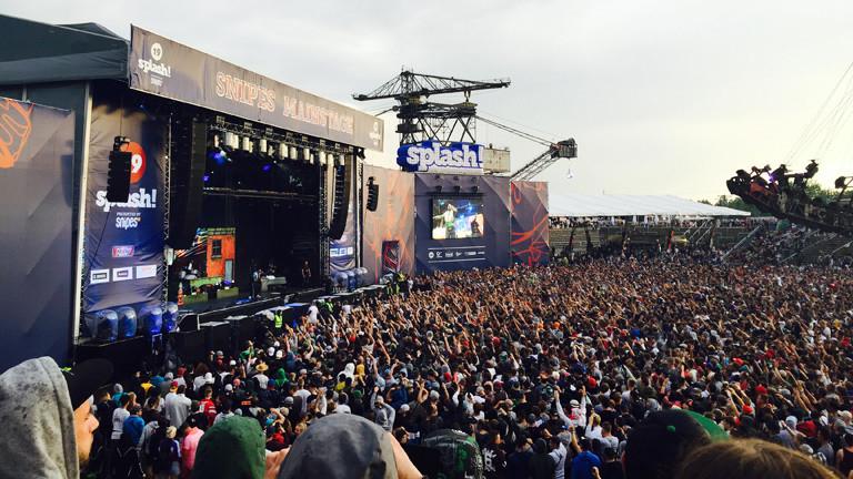 Bühne auf dem Splash!-Festival