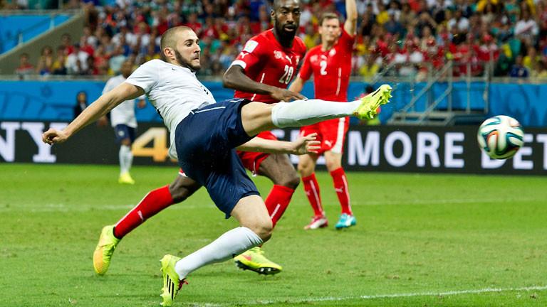 Karim Benzema für die französische Fußball-Nationalmannschaft.