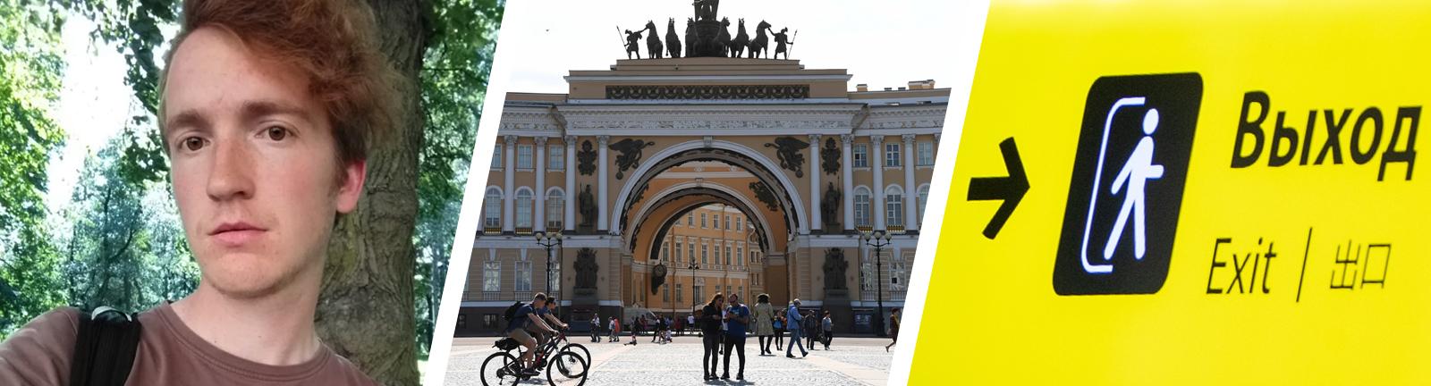 Lukas Latz in Sankt Petersburg.