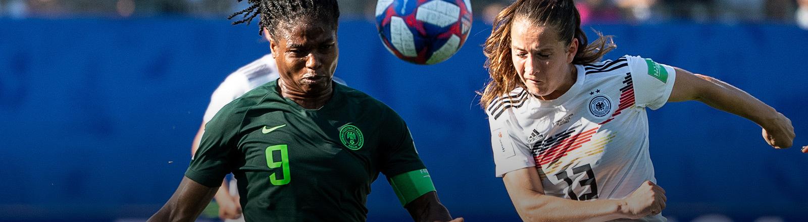 Fußballspiel Deutschland gegen Nigeria