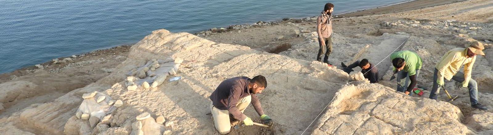 Archäologen untersuchen den Palast von Kemune im Nordirak