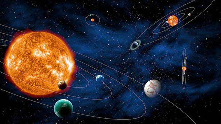 Grafische Darstellung von Planeten.