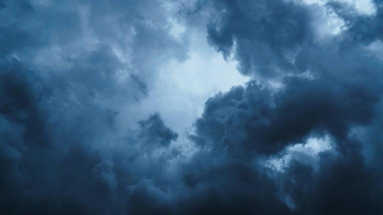 dunkle Wolken, Gewitter zieht auf
