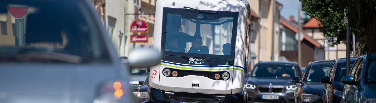 Erster selbstfahrender Bus in Brandenburg