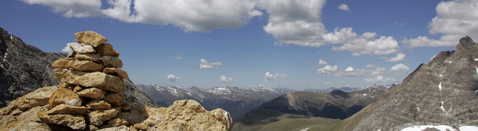 Gipfelpanorama in der Schweiz