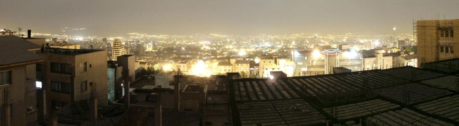 Teheran bei Nacht