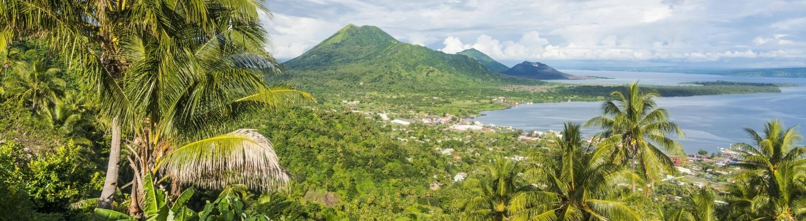 Papua-Neuguinea von oben.