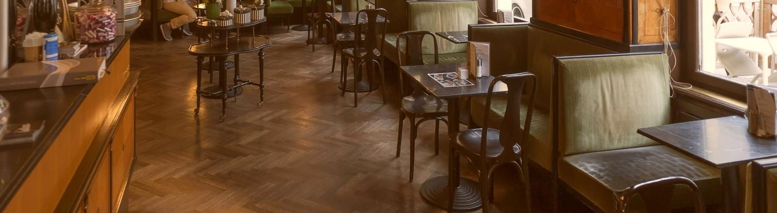 Kaffeehaus Goldegg in Wien von innen.