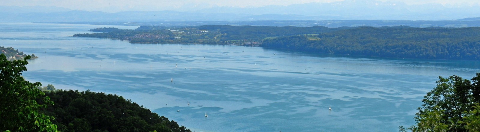 Blick auf den Bodensee von Bonndorf aus.