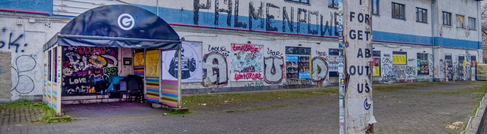 Lockdown: Der Eingang des Berliner Clubs Gretchen im April 2021