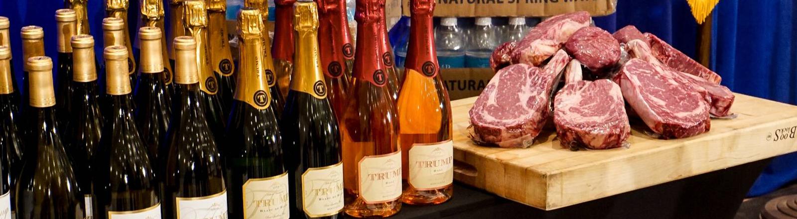 Trump-Merchandising: Steaks, Wein und Mineralwasser
