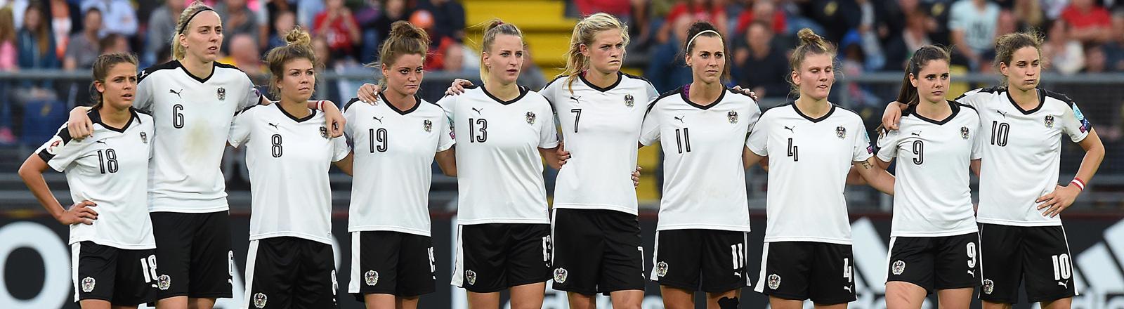 Das Team der deutschen Nationalmannschaft bei der EM der Frauen 2017.