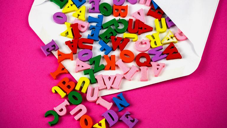 Bunte Buchstaben