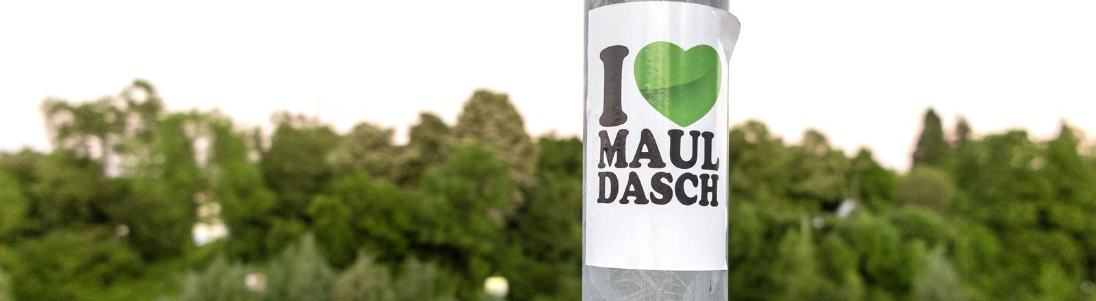 """Aufkleber mit der Aufschrift """"I love Mauldasch"""""""