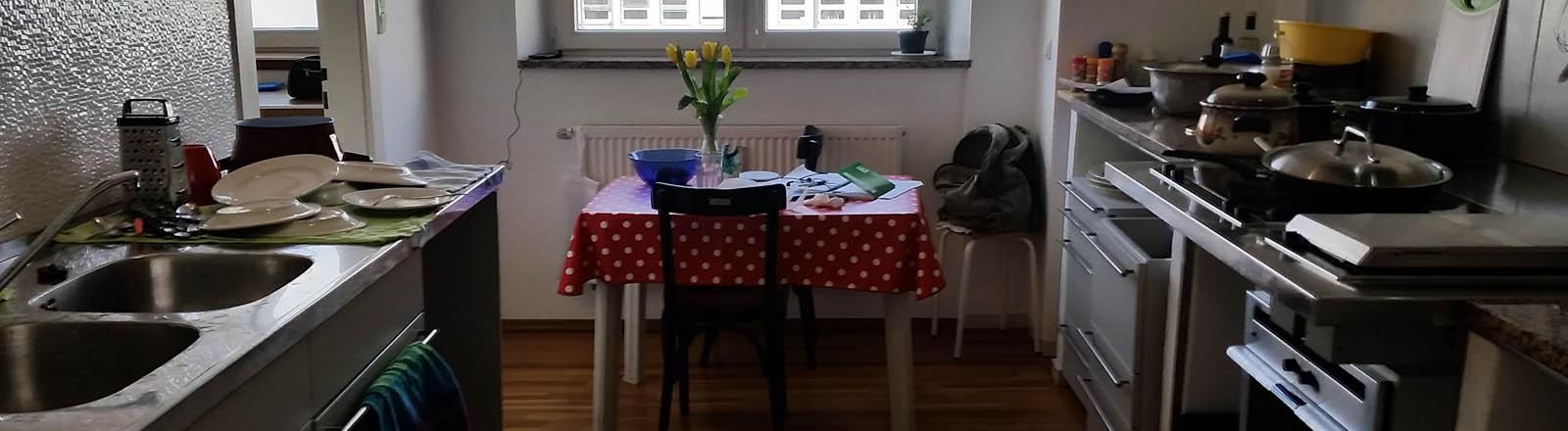 Küche der Flüchtlingsunterkunft für homo- und transsexuelle Menschen