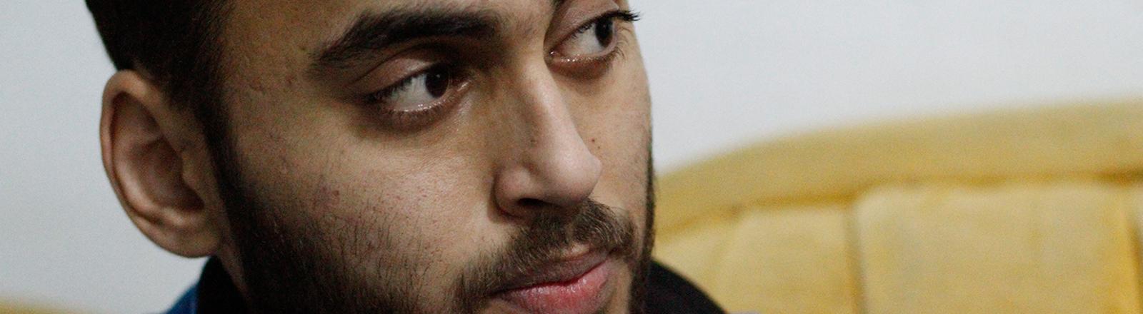 Der Syrer Mohammed wurde bei einem Bombenanschlag schwer verletzt.