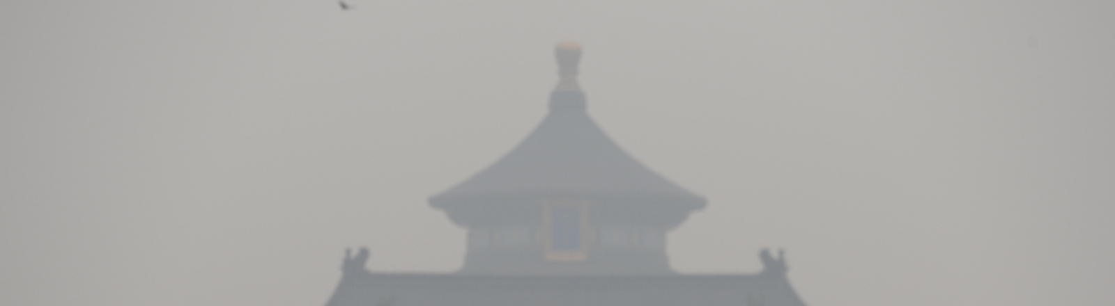 Der Himmelspalast in Peking versinkt im Smog.