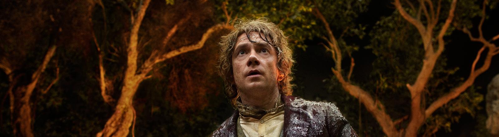 """Martin Freeman als Bilbo Beutlin in dem Film von Peter Jackson """"Der Hobbit""""."""
