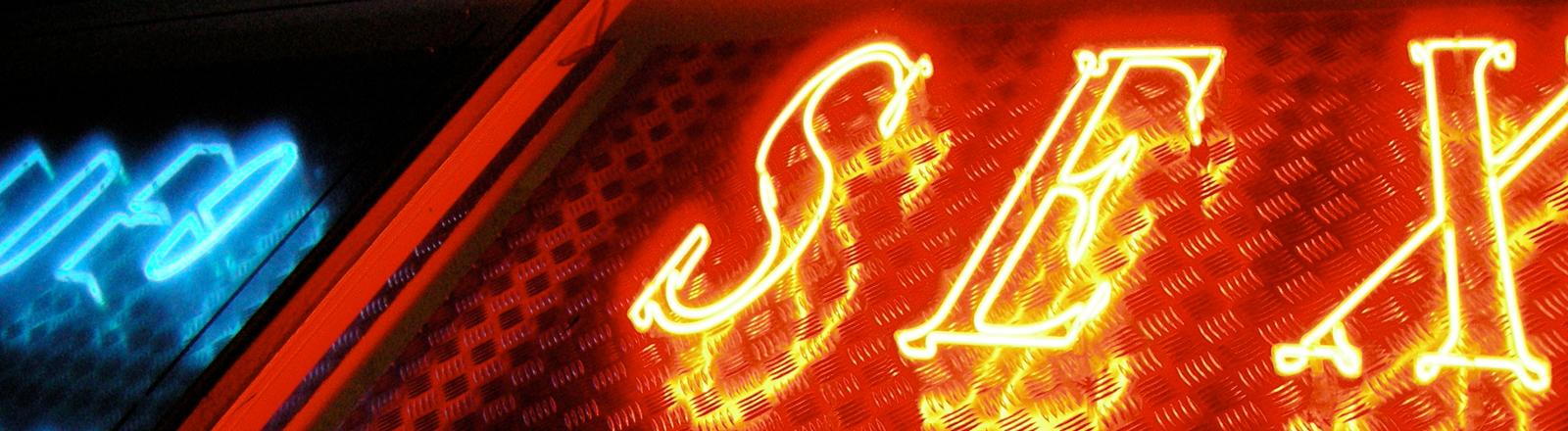 Leuchtreklame Sex-Shop